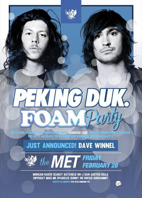 peking duk foam party