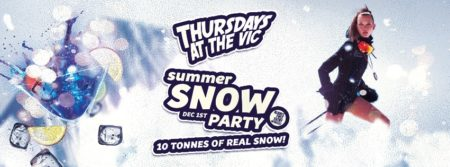 summer snow party